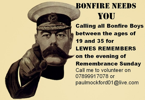 Bonfire needs you poster