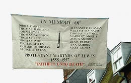 Banner Depicting Lewes Protestant Martyrs